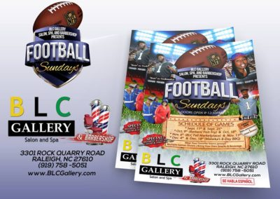 GLC - BLC Gallery & Barbershop Football Mockup